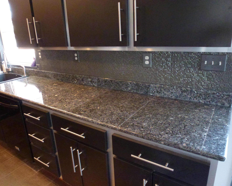 Deep Blue Pearl Granite Tile Countertops Kitchen Tile