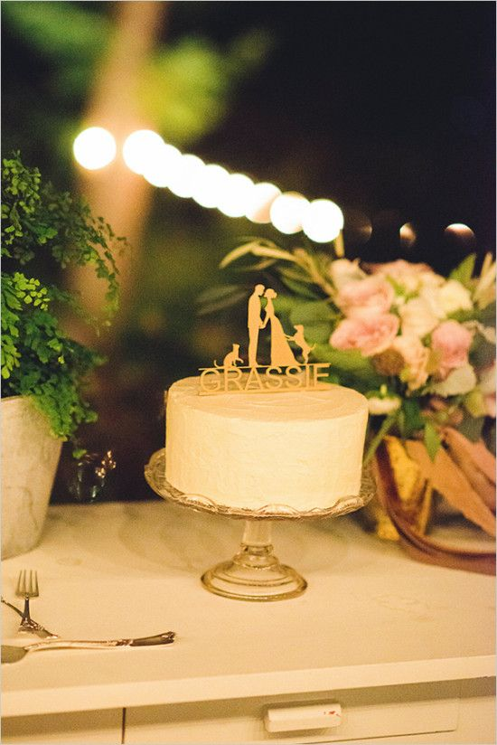 Chic Blue and Gold Outdoor Wedding | Small wedding cakes, Wedding ...