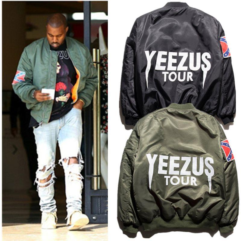 YEEZY Jackets Men YEEZUS Tour MA1 bomber jacket men Kanye West ...