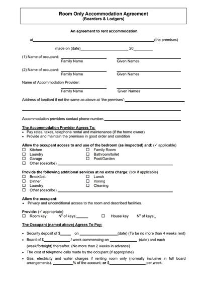 Room Rental Agreement Template Free Download Create Edit Fill Wondershare Pdfelement Room Rental Agreement Rental Agreement Templates Templates