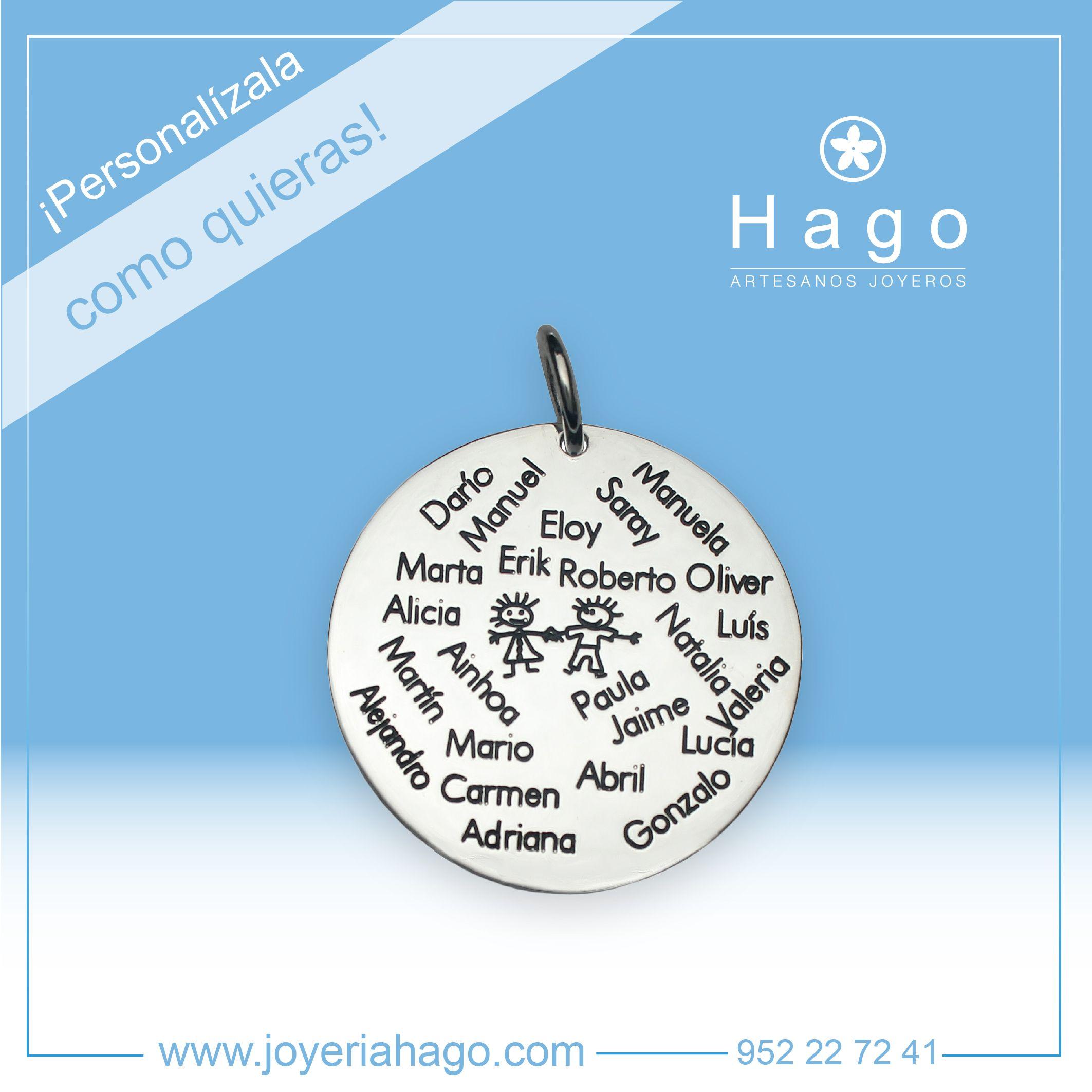 #Colgante de #plata con grabado personalizado.