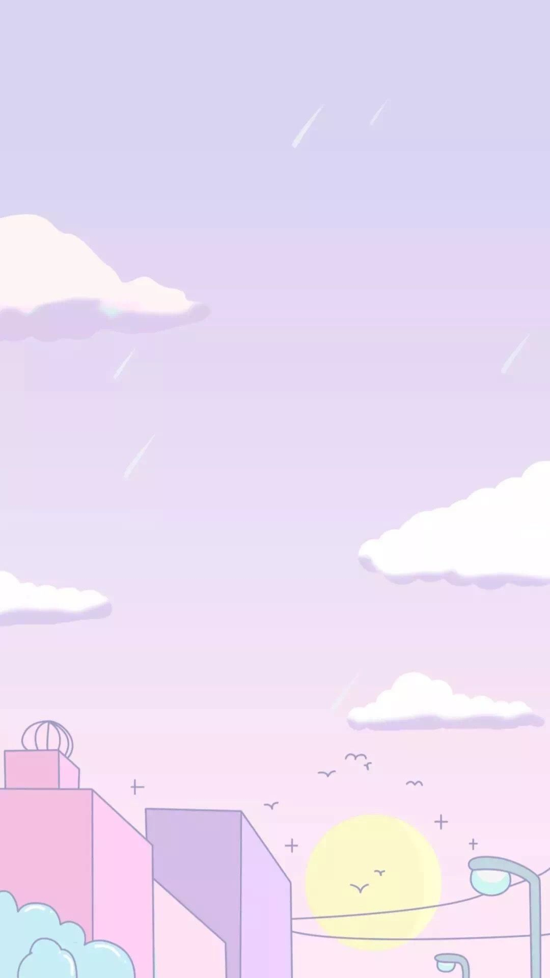 Pin By Veronica On Wallpaper Pink Scenery Wallpaper Anime Scenery Wallpaper Cute Pastel Wallpaper