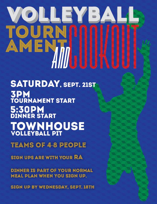 Volleyball Tournament Cookout Poster Design Volleyball Posters Volleyball Tournaments Fun At Work