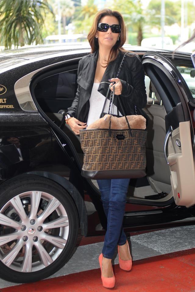 Fendi Roll bag -  Eva Longoria