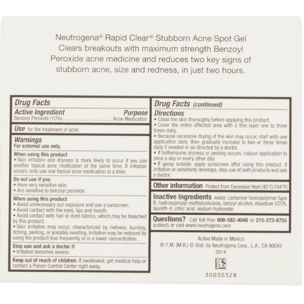 Neutrogena Rapid Clear Stubborn Acne Spot Gel 1 Oz 8 Pack Check