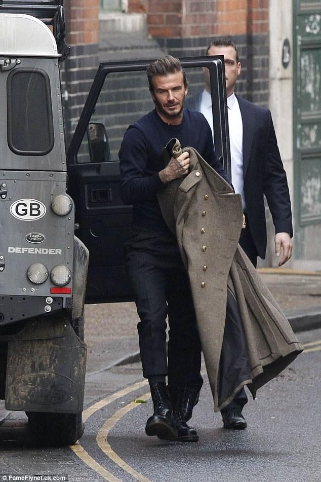 c696f4ea0 David Beckham wearing Dr. Martens 1490 and Kent and Curwen Military ...