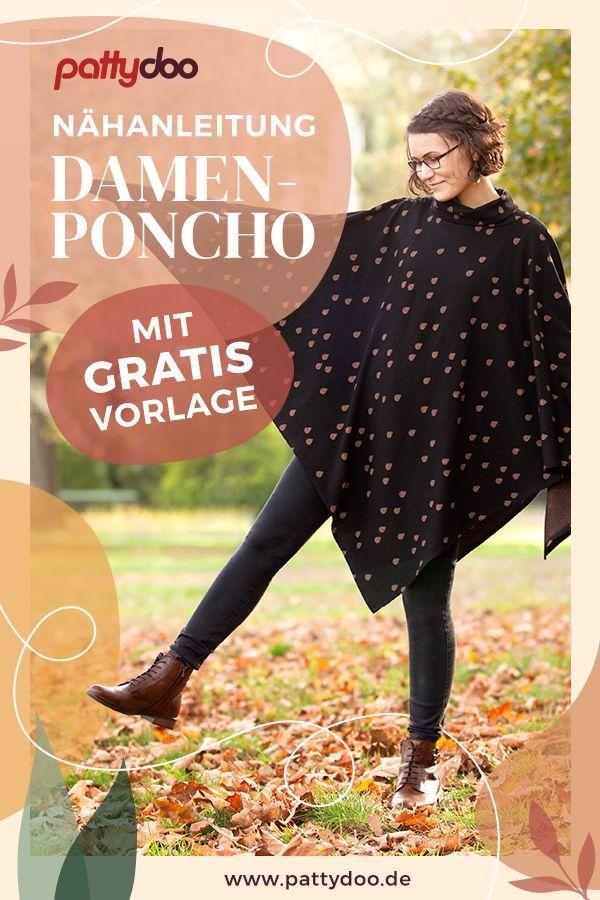 Photo of Poncho gratis Vorlage zum Nähen | PATTYDOO