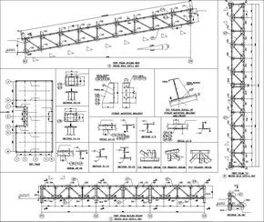 Truss Structure Details V7 Truss Structure Steel Structure Buildings Structural Drawing