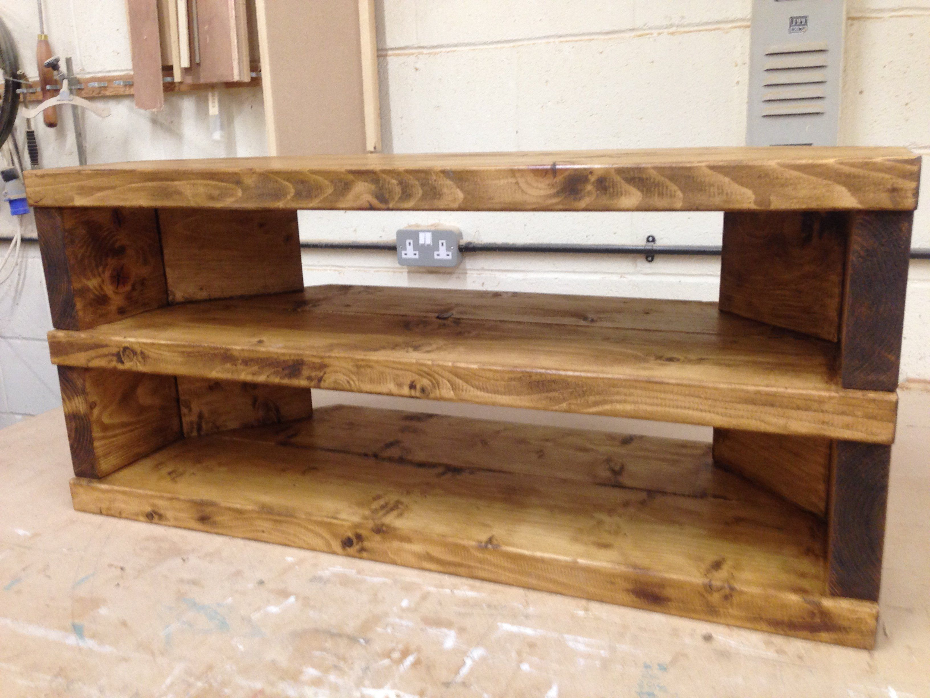 You Are Viewing My Handcrafted Rustic Corner Tv Stand Cabinet The Tv Stand In Constructed Using Traditional Methods From Solid Reclaimed Pine And Finished ¤ンテリア