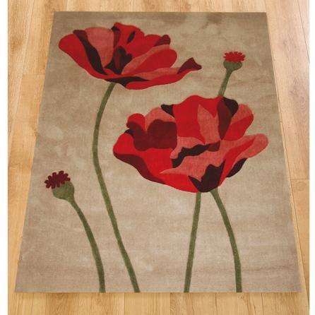 Red Poppy Rug Home Decor
