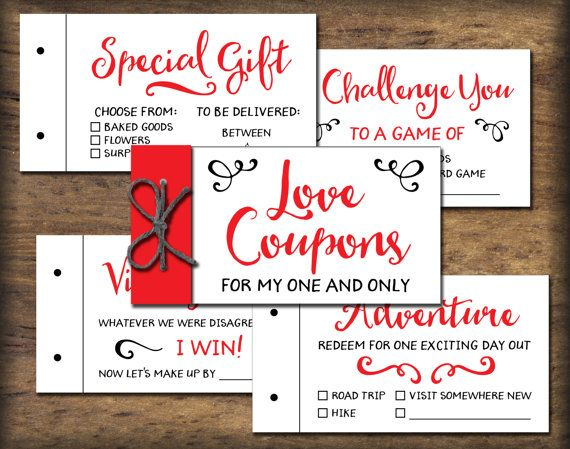 love coupon book printable gift idea instant download romantic