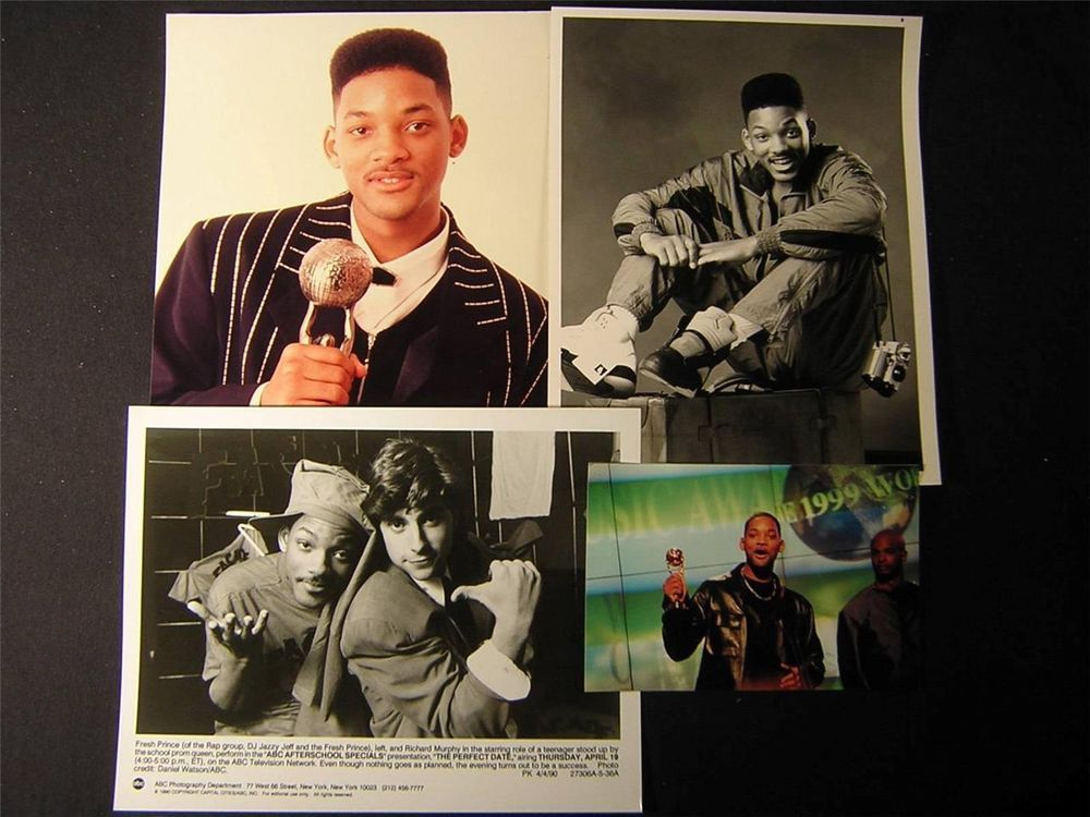 Will Smith The Fresh Prince Of Bel Air VINTAGE 4 Assorted PHOTO LOT 137K