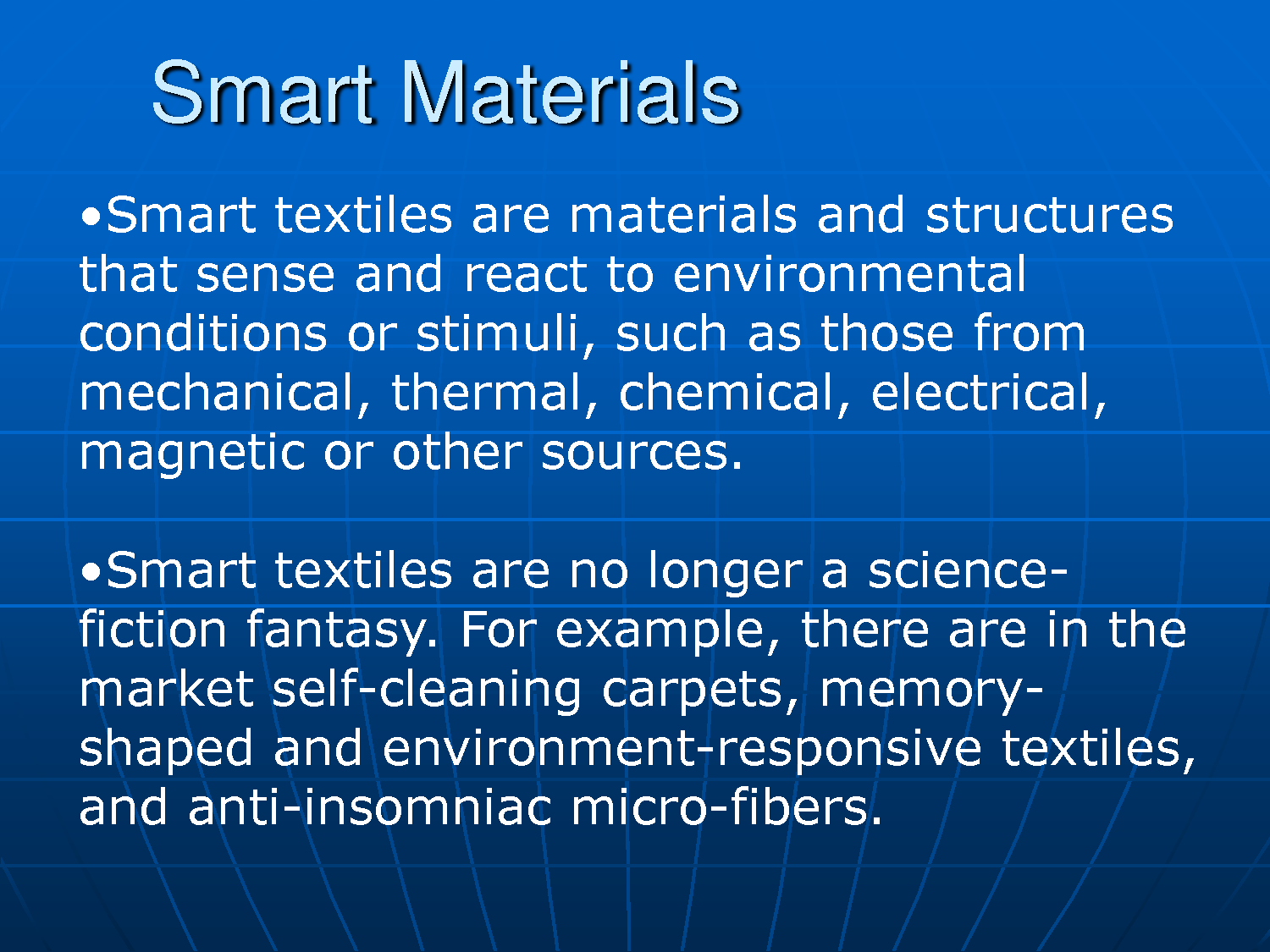 smart material Smart materials [mel schwartz] on amazoncom free shipping on qualifying  offers explores state-of-the-art work from the world's foremost scientists,.