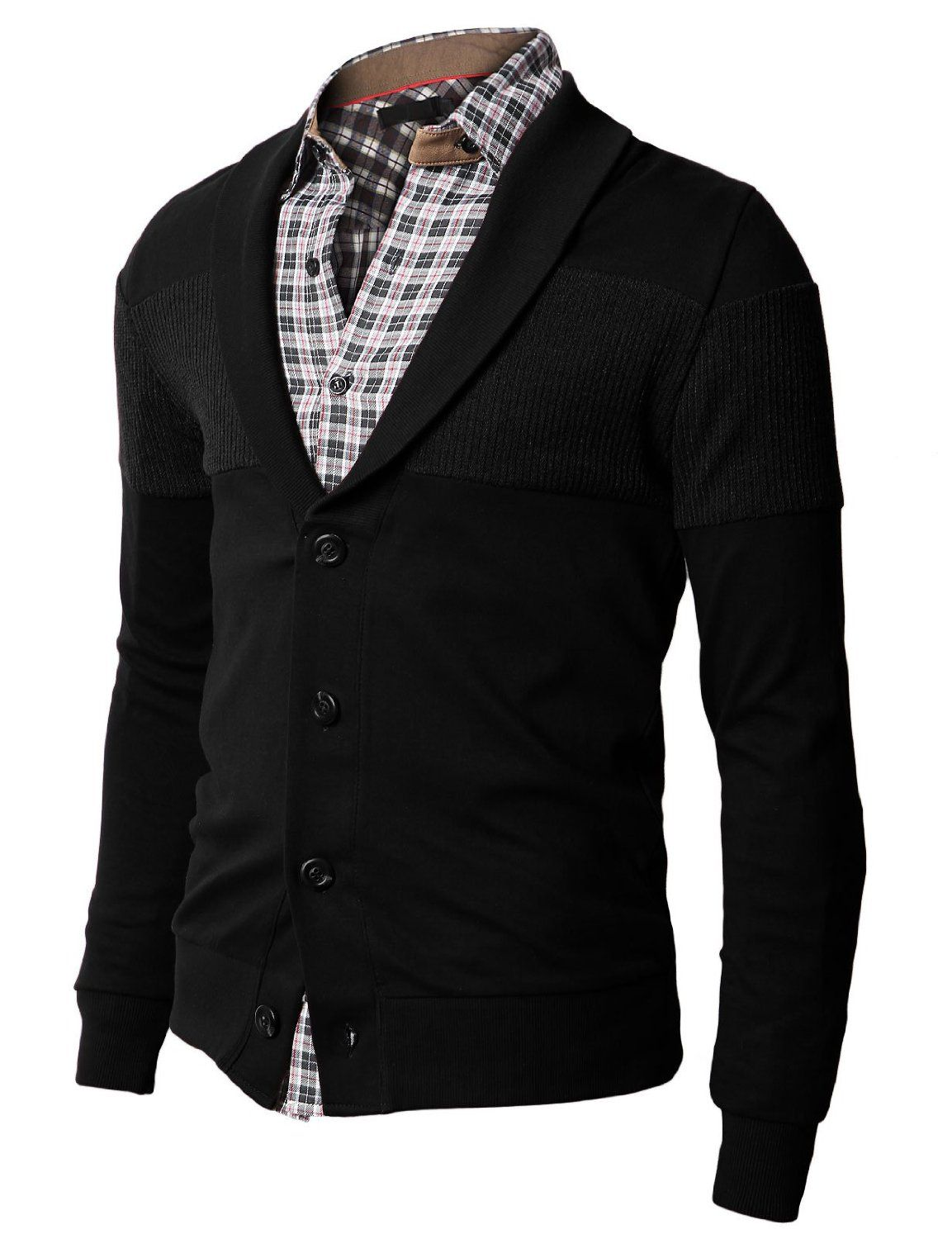 Black H2H shawl mens cardigan from $24.99 | Black Mens Cardigans ...