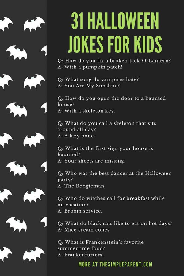 31+ Halloween Jokes for Kids That Will Have Them Rolling • The Simple Parent