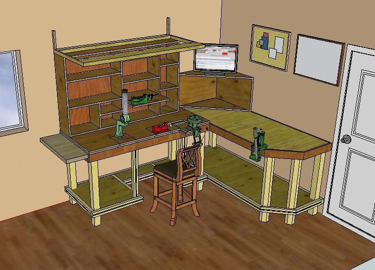 Reloading Bench Ideas And Plans Reloader S Blog Discussion And Evolution Of Reloading Childrenben Reloading Bench Plans Reloading Bench Reloading Room