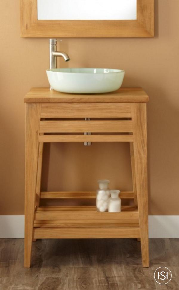 Simplicity Is Key With This Bathroom Design The 24 Aurelia Teak