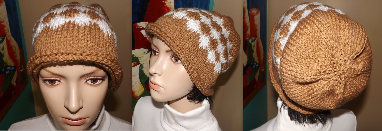 Crochet Gorro Caido Tunecino Para Mujer  e6e544d7704