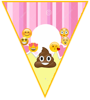 Banderin feliz cumpleanos emoji