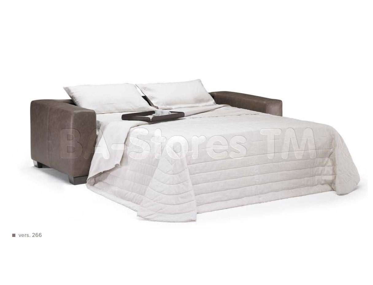 Natuzzi Editions Transitional Leather Sofa Bed B534