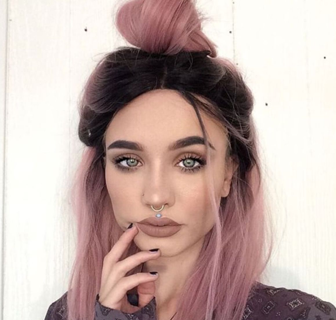 Images about hair colors and styles on pinterest - Rose Pink Hair Color With Dark Roots