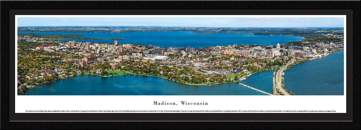 Madison, Wisconsin Skyline Aerial Panoramic Picture - Madison, WI ...