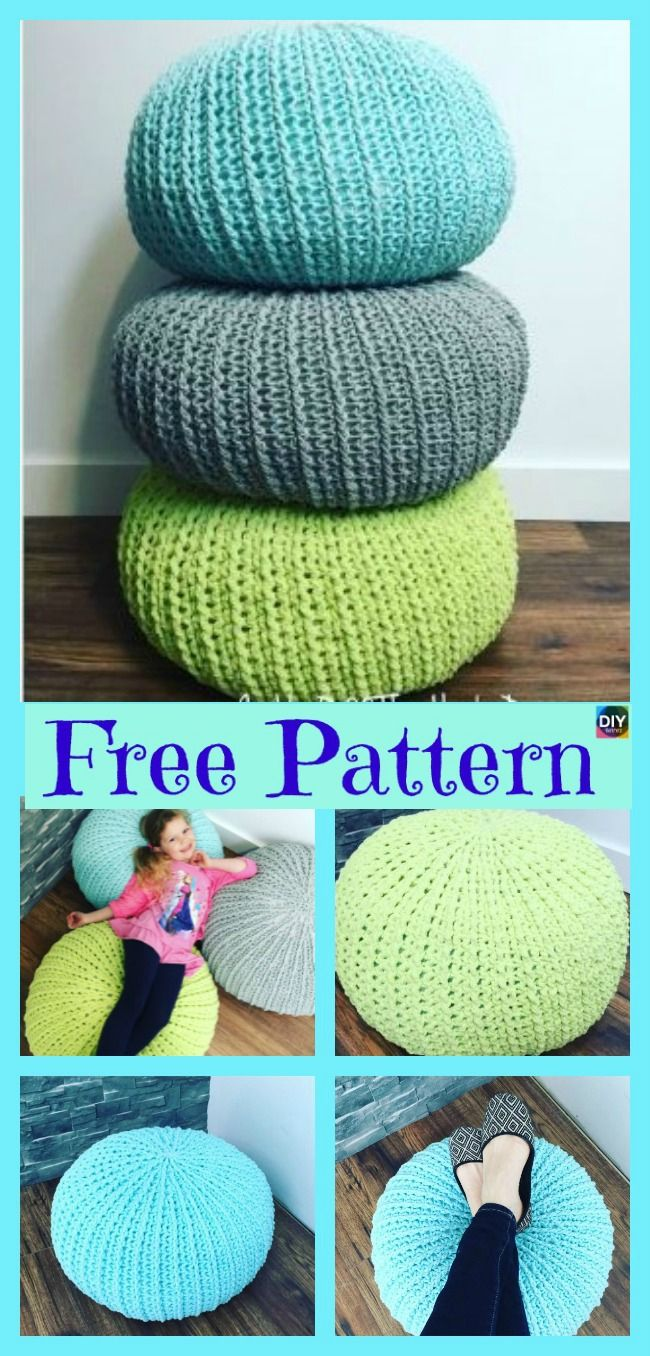 Cozy Crochet Floor Pouf - Free Pattern | Haken | Pinterest | Tejido ...
