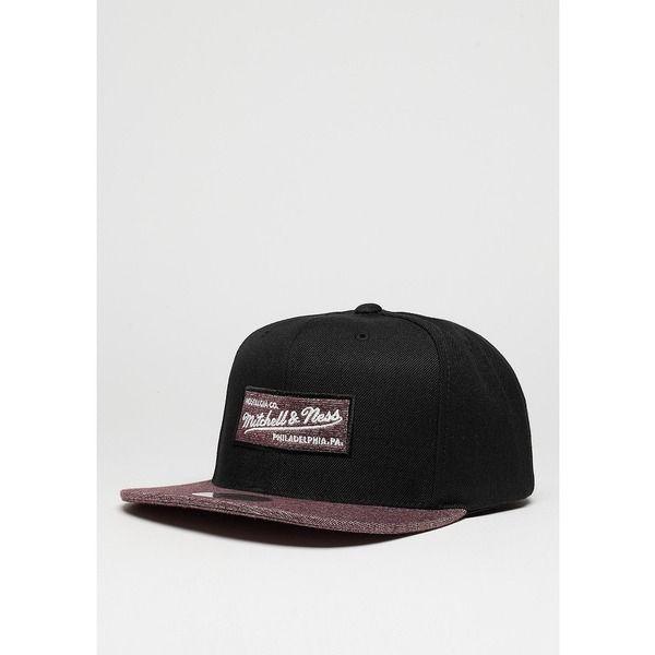 Mitchell & Ness Snapback-Cap Melange Infill black/burgundy