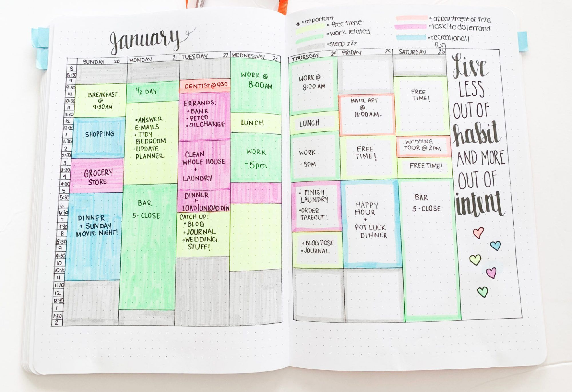 Time Blocking In Your Bullet Journal Sidereal Life Bullet Journal Lettering Ideas Bullet Journal Organization Bullet Journal