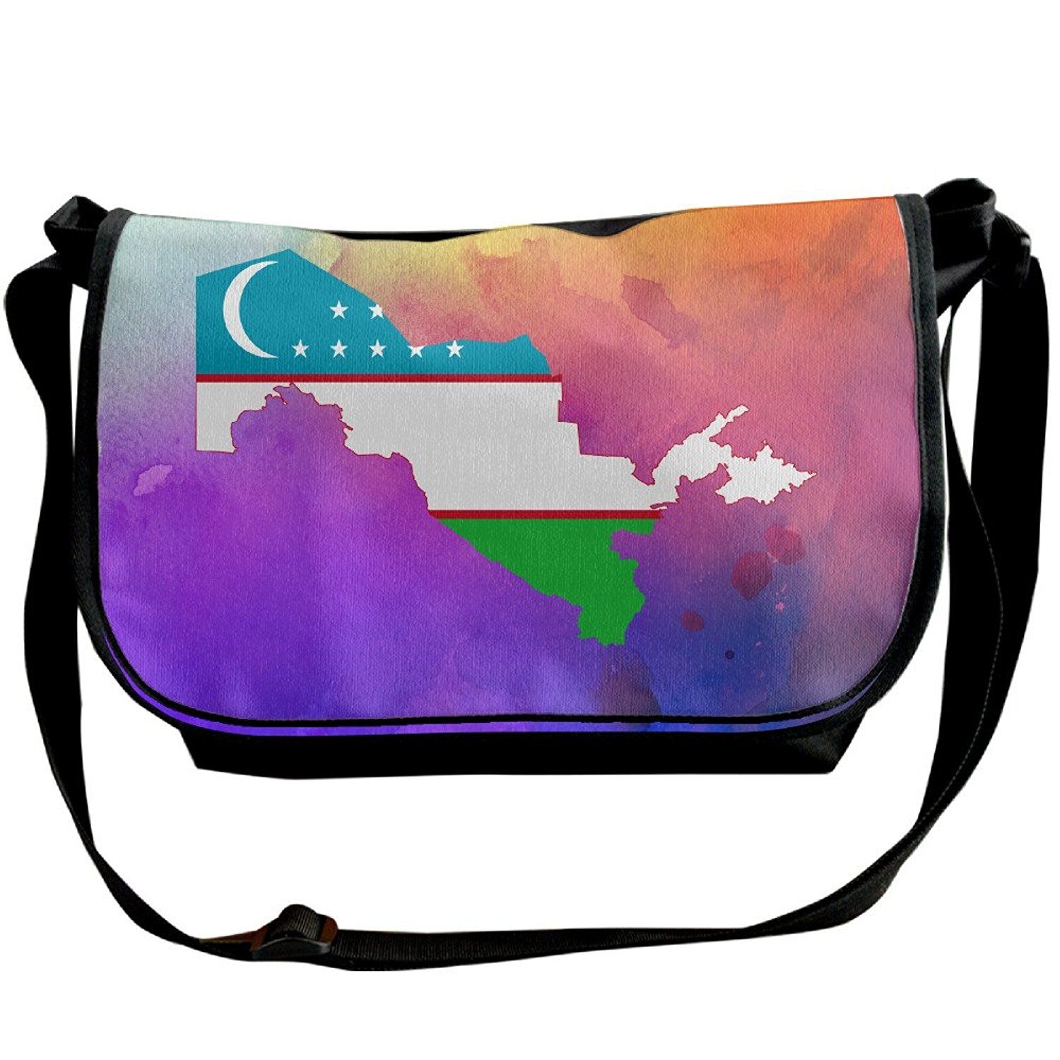 Flag And Map Of Uzbekistan Black Unisex Body Shoulder Sling Bag Messenger Bag Packbags >>> Check out this great product.