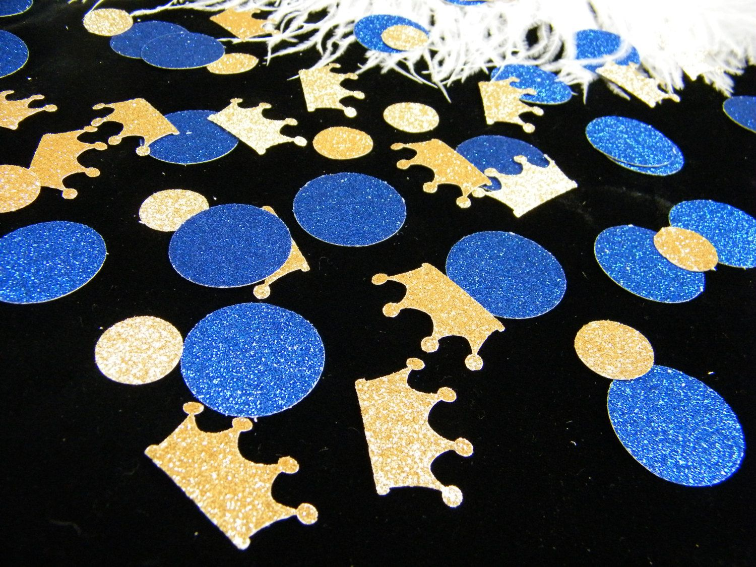 Royal Prince Baby Shower Decoration / Crown Confetti Gold U0026 Royal Blue  Glitter/ Boy First Birthday Party Decoration / Little Prince / 100 Ct