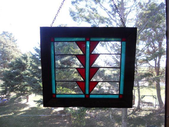 navajo stained glass window 10 x 13