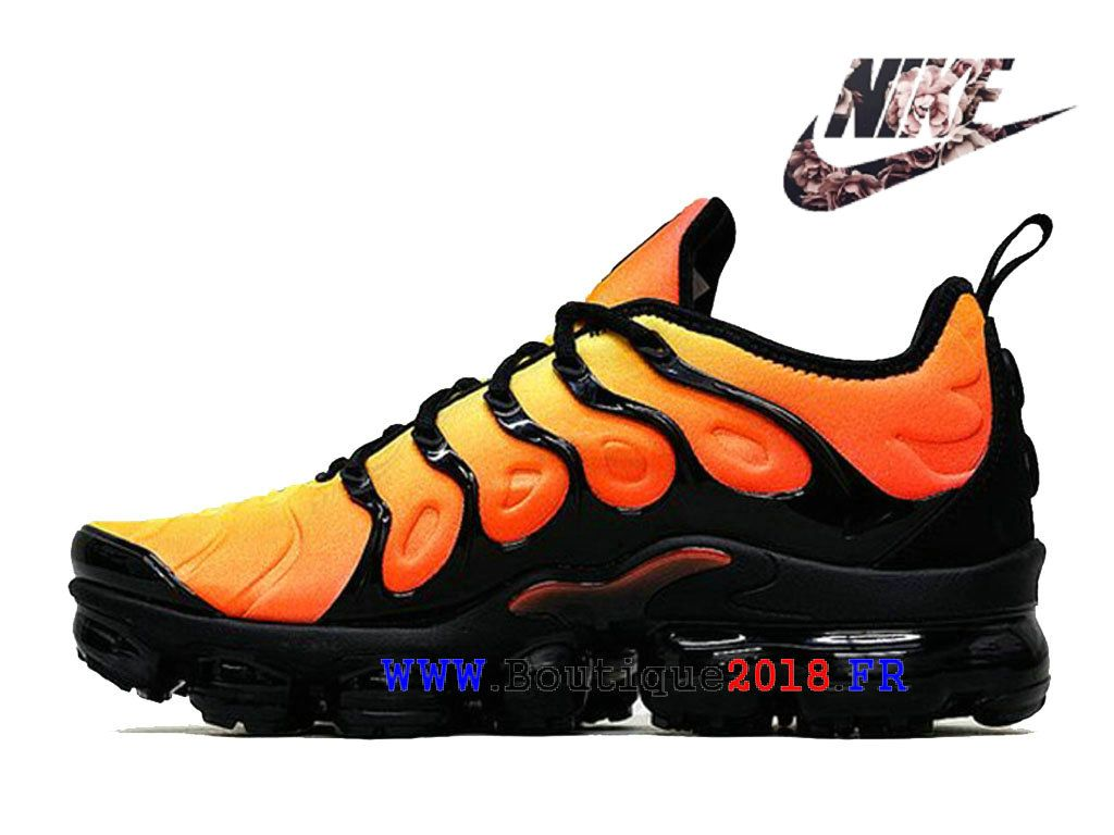 03f0051bb45 Nike Air VaporMax Plus Chaussures Nike TN 2018 Pas Cher Price Pour Homme  Noir Jaune AO4550-ID2