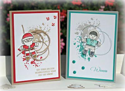by Keksie: Weihnachtskarten, Ausgestochen weihnachtlich, Lebkuchenstanze, Cookie cutter, Stampin up, Weihnachten