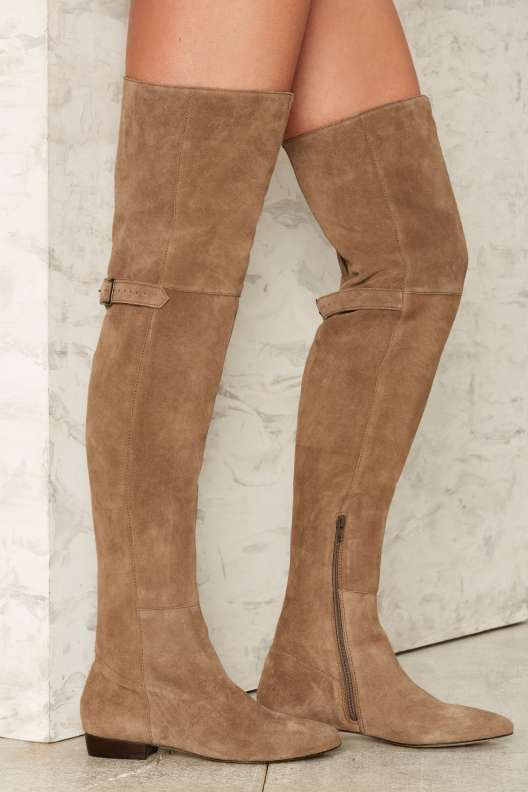 b29999f7032 Matisse Ashley Over-the-Knee Suede Boot - Taupe