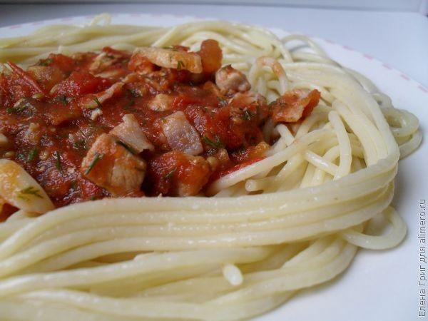 Паста с мясом в томатном соусе, рецепты с фото ...