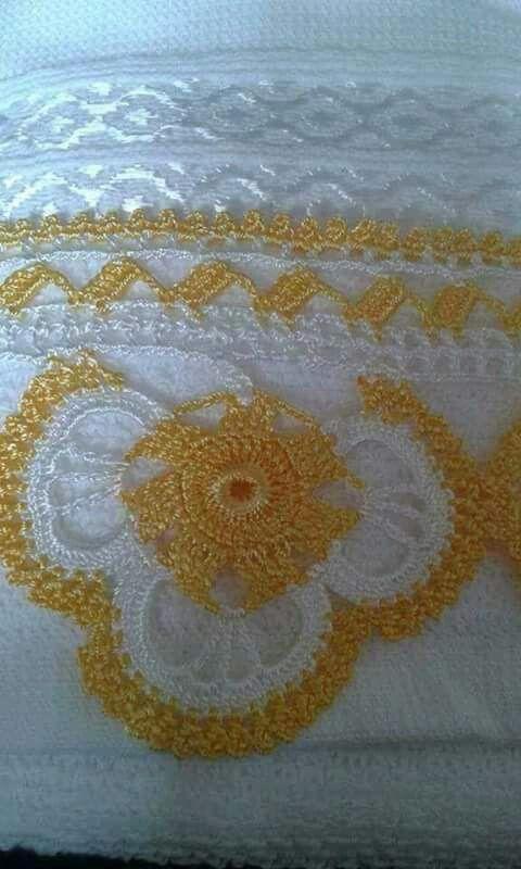 Havlu kenarı | crochet necklace | Pinterest | Orillas, Toallas y ...