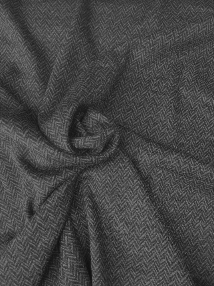 6414652066b 100% Wool Fabric Double Knit Jersey by the Yard Black Gray Big Chevron Yarn  Dye #EcoFriendly