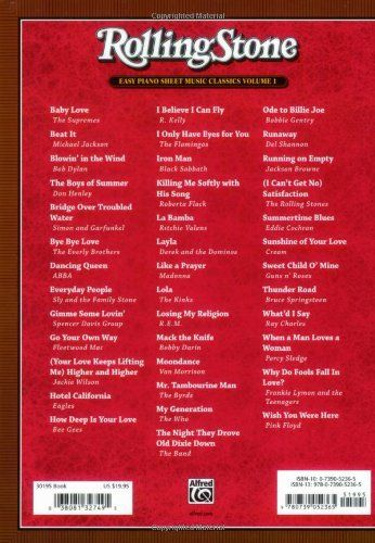 Rolling Stone Easy Piano Sheet Music Classics Vol 1 39