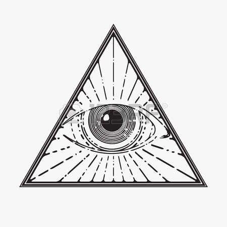 Eye Of Providence All Seeing Eye Symbol Vector Illustration