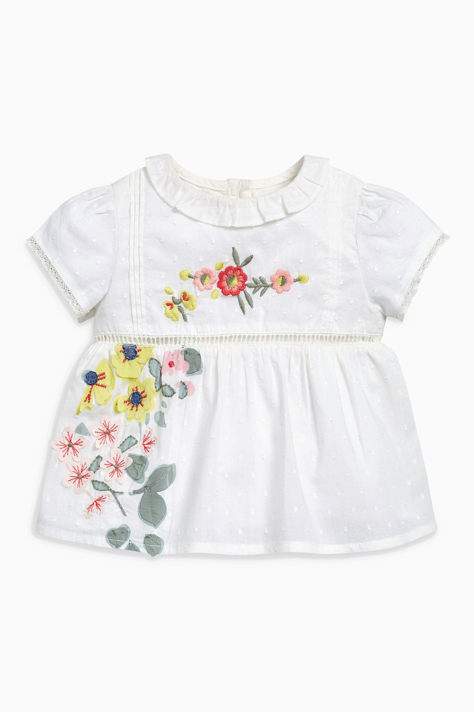 7c7b423d804 Buy White Floral Blouse And Bloomer Set (0mths-2yrs) from the Next UK online  shop