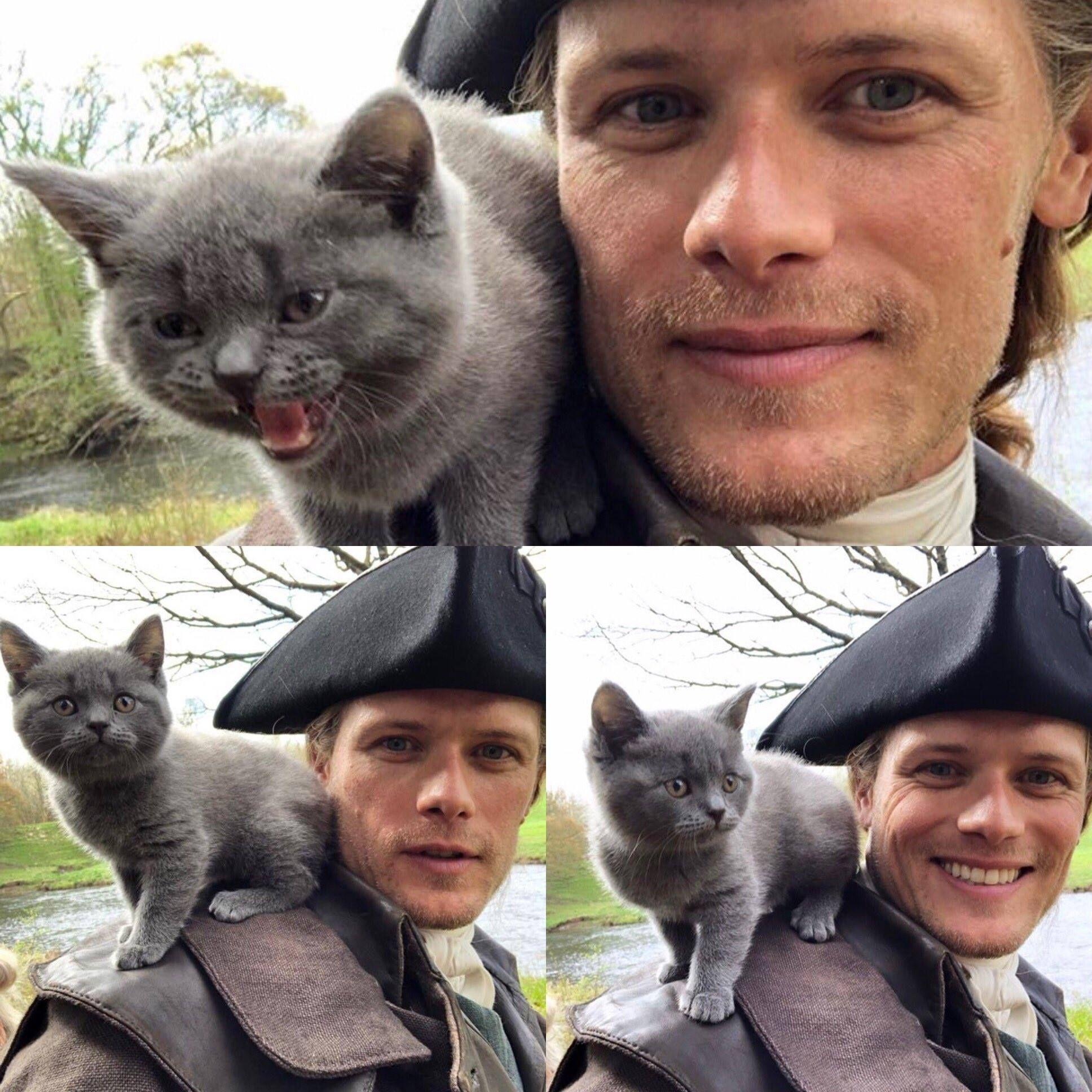 Outlander S Newest Cast Member Meet Adso Outlander Funny Outlander Sam Heughan Outlander