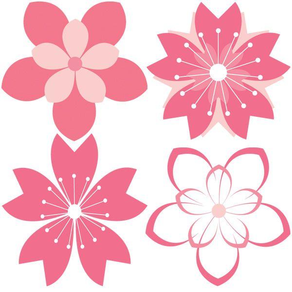 11 cherry blossom vector patterns set     www cherry clip art images cherry clip art images