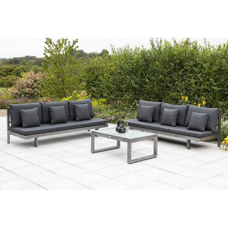 6 Sitzer Lounge Set Malina Mit Polster In 2021 Gartenliege Lounge Mobel Lounge