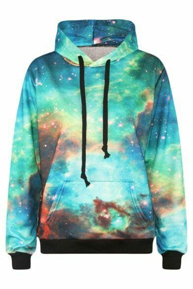 69f367cac7 Blusa de moletom Galaxia #fashion #galaxia #colors | BdF | Roupas de ...