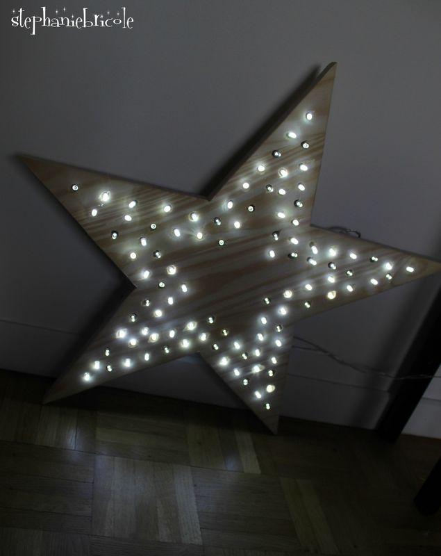 Que faire avec une guirlande LED Shopix.fr une fois #Noël terminé? Une jolie déco DIY. On adore l'idée !