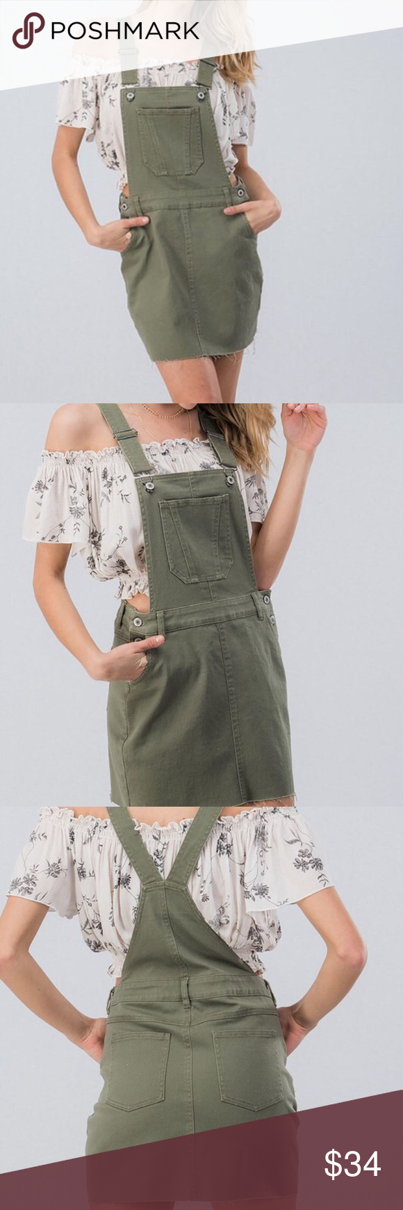 Olive Green Overall Dress Clothes Design Boutique Dresses Overall Dress [ 1740 x 580 Pixel ]