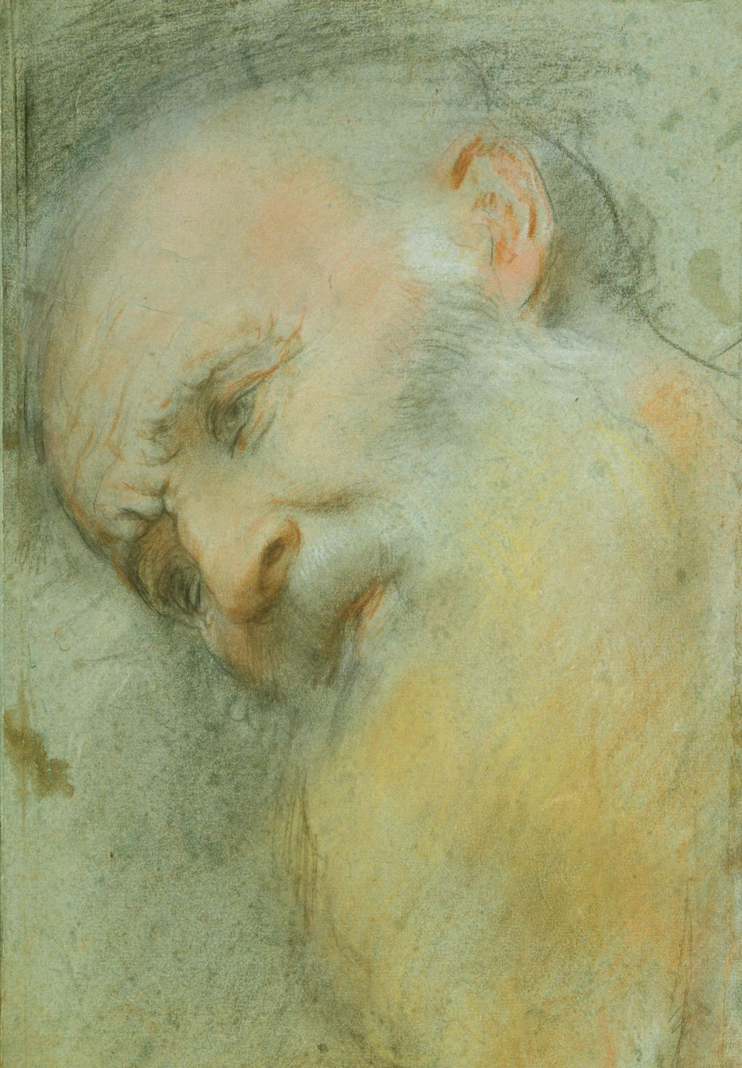 A Drawing Of A Head Of An Old Man Turned Three Quarter To The Left Inclined And Looking Down Federico Barocci Wa With Images The Royal Collection Unique Drawings Urbino