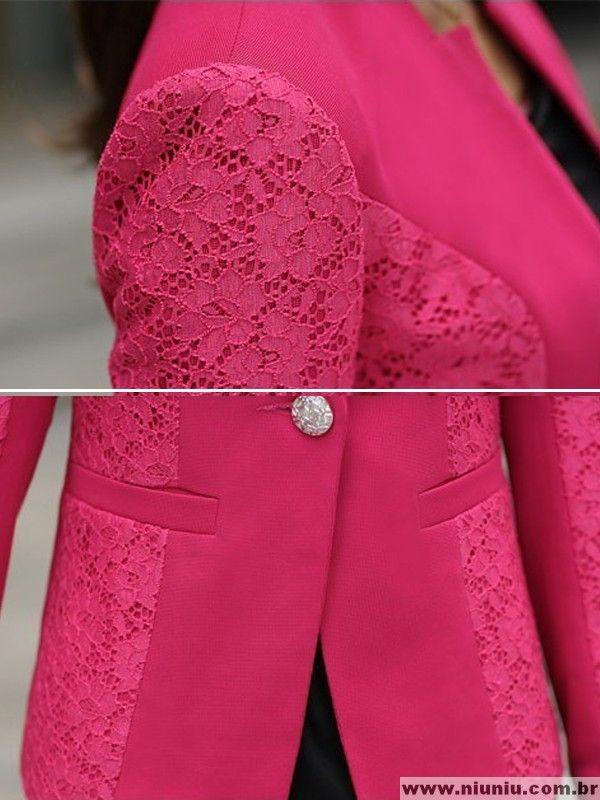 99d1f9224f Blazer Elegante com detalhe de Renda