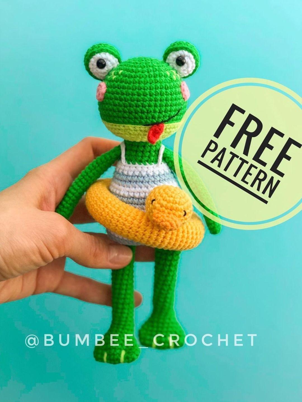 CROCHET FROG PATTERN FREE   FREE PATTERNS.   Crochet frog, Crochet ...   1440x1080